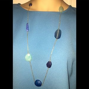 The Limited gold-toned stone style necklace